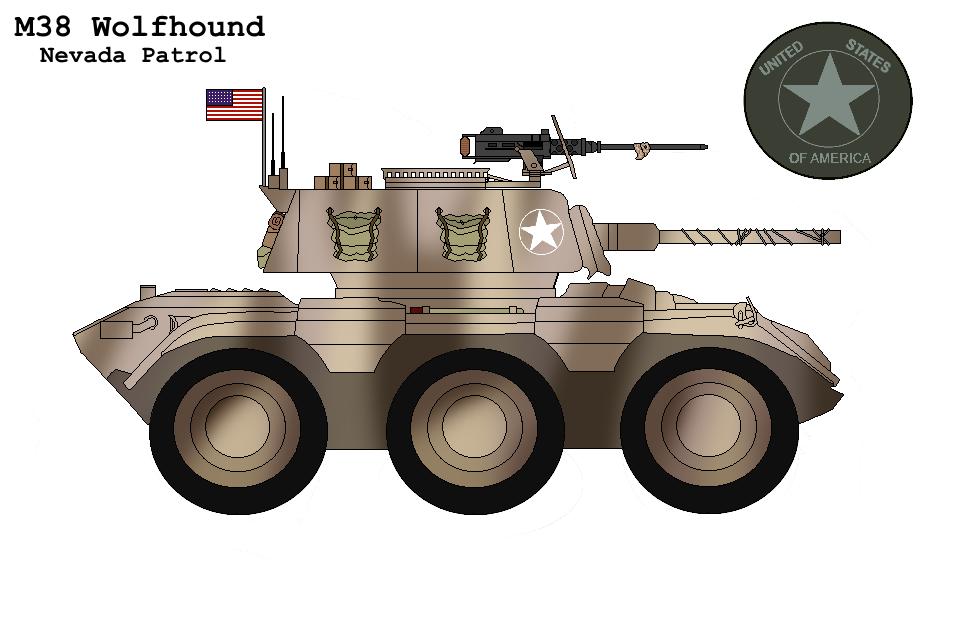 P.R M38 ''Wolfhound'' Armoured Car Nevada Patrol By