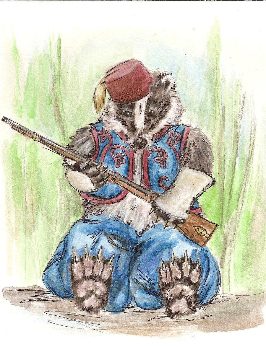 Badger Zouave by Forfaxia