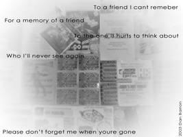 Memories for a Friend