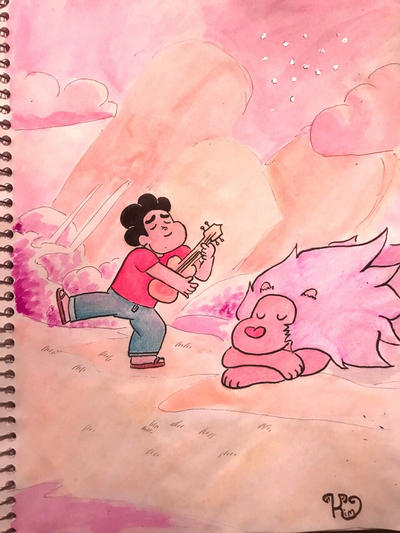 "I am absolutely enthralled by the sweet cinnamon bun that is Steven Universe. ""Is there anything that's worth more than peace and love on the planet earth"" Inspired by the episode ""It could have be..."