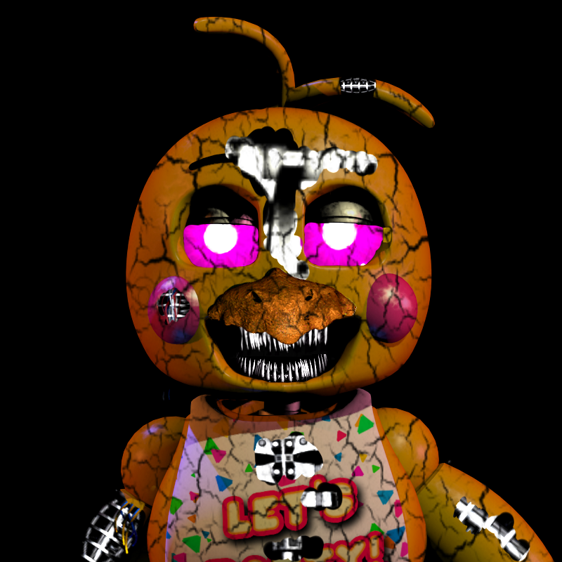 Nightmare toy chica fnaf 2 by elender13 on deviantart