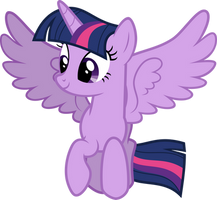 Twilight flying around by DecPrincess
