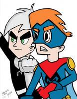 Kappa Mikey and Danny Phantom by kappalizzy
