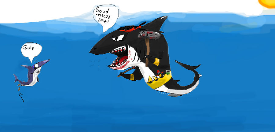 Megalodon vs Blue shark by LightningboltszOwnz1 on DeviantArt