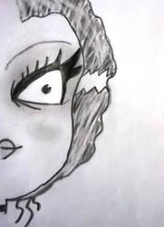 Half Faced Girl by uSuck1313