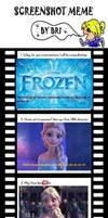 Frozen Screenshot Meme