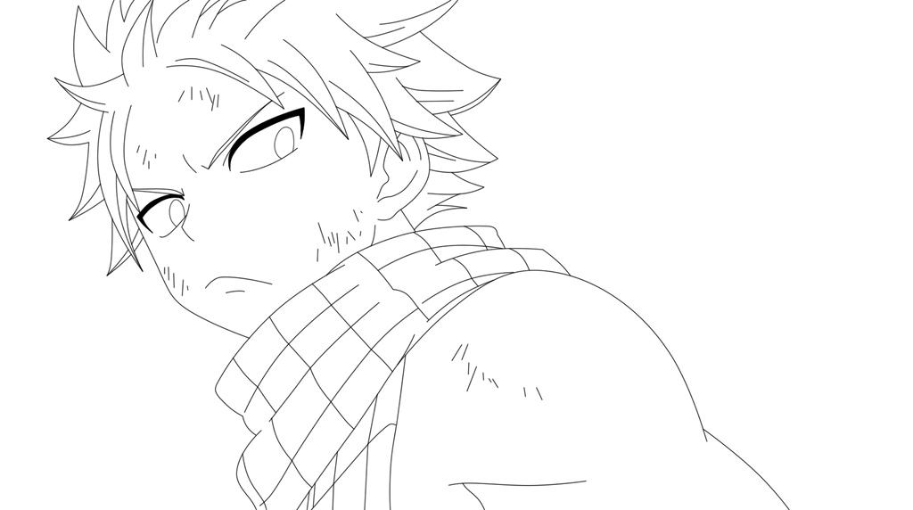 Natsu Lineart : Natsu dragneel lineart by scarletft on deviantart