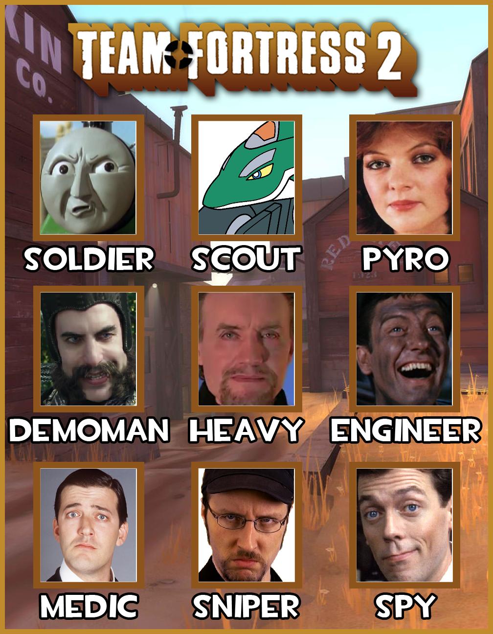 My Team Fortress 2 Crew By Sharpe Fan On Deviantart