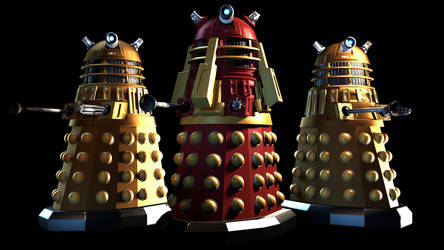 [SFM] the Supreme Dalek and his guards by Sharpe-Fan