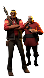[SFM] Karate Sniper and his pupil by Sharpe-Fan