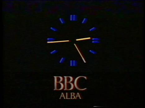 What if - BBC Alba clock (1985-1991)