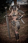 Skyrim Cosplay with Great sword