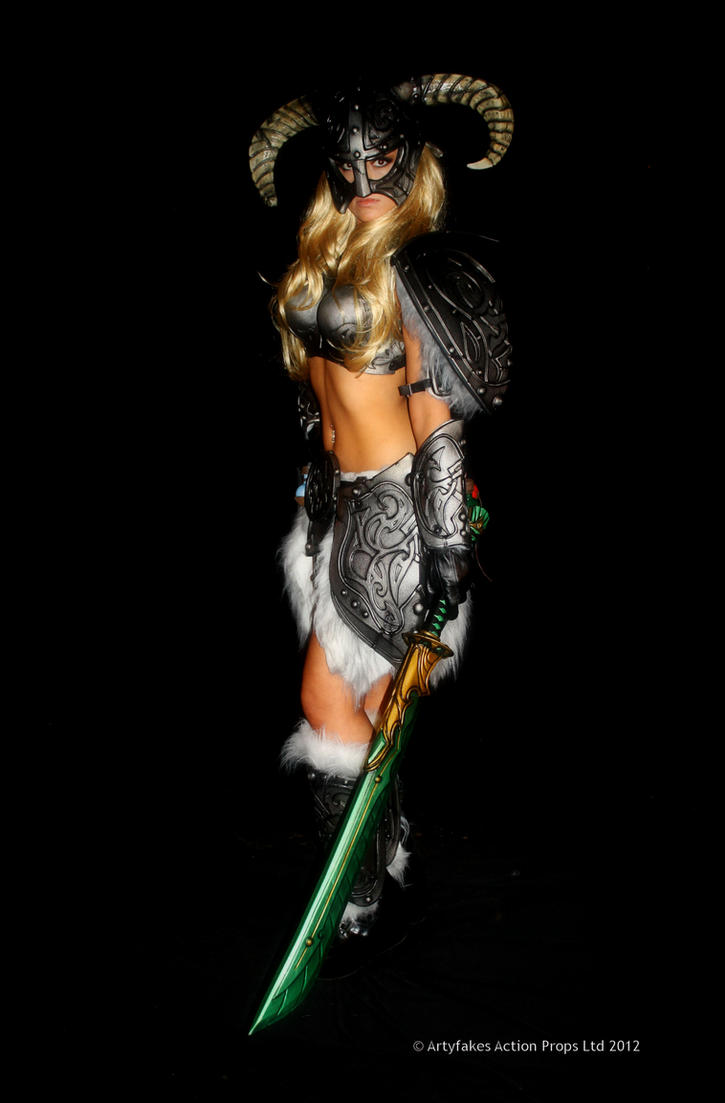 Skyrim barbie with glass sword by Artyfakes