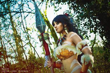 Nidalee cosplay by Artyfakes