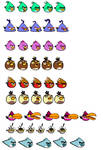 Angry Birds OCs Sprites