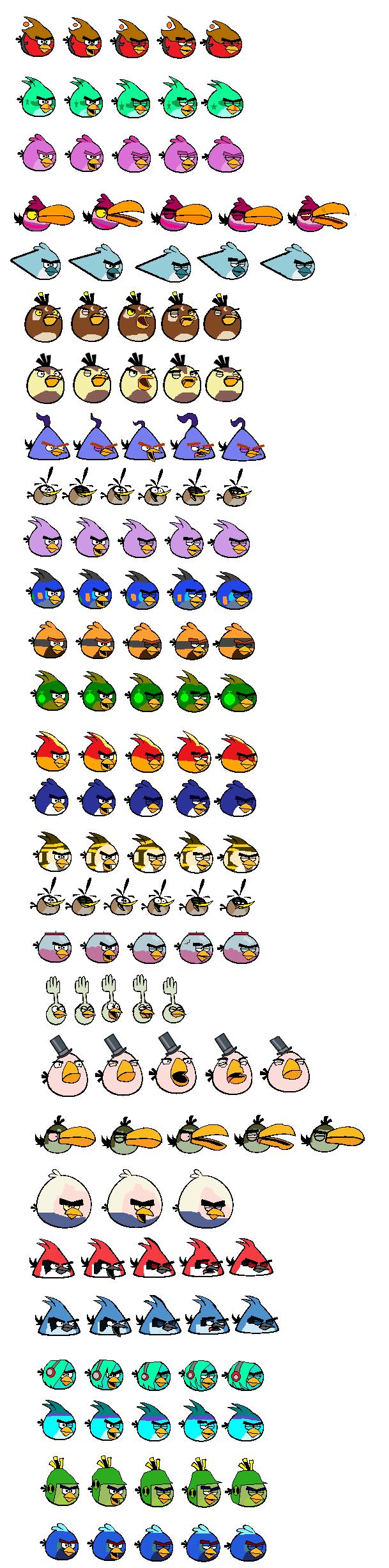 Angry Birds OCs Sprites (Update)