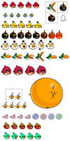 All New Angry Birds and Angry Birds OC sprites
