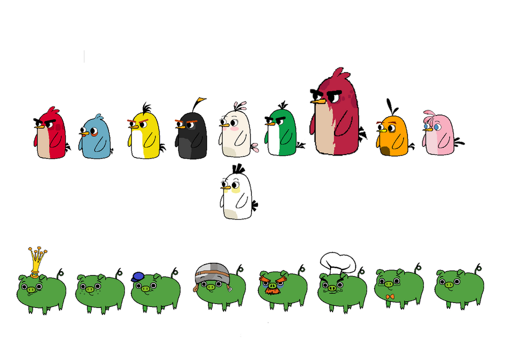 Angry Birds And Piggies In Land Of Ooo By Jared33 On