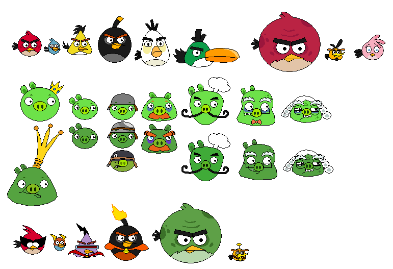 Angry Birds Sprites By Pottaishi Knowledge By Jared33 On