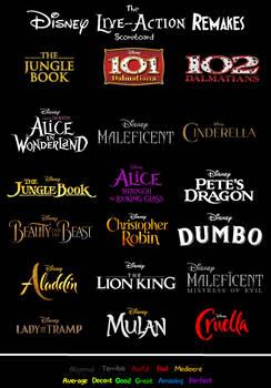 The Disney Live Action Remakes Scorecard Template