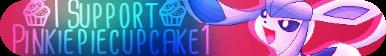 I Support Pinkiepiecupcake1 Button by mlptheraritysparkle