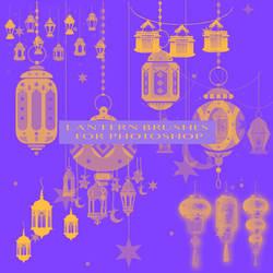 Lantern Brushes For Photoshop by SlipperyFoxx