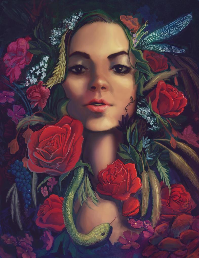 garden snake by kelseymichele