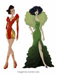 Avengers Gowns: Iron Man and Hulk