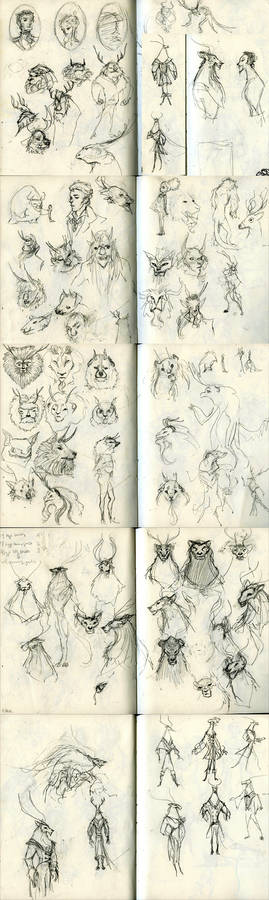 Beast Concept Sketches