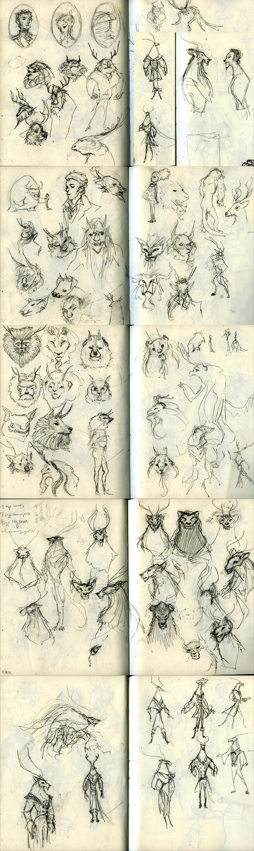 Beast Concept Sketches by kelseymichele