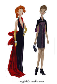 Avengers Gowns: Black Widow and Hawkeye