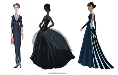 Avengers Gowns: Coulson, Fury, and Hill by kelseymichele