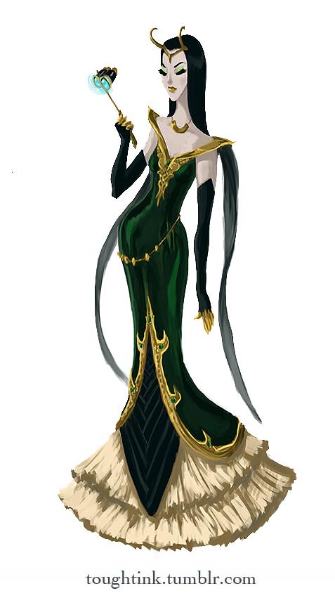 Avengers Gowns: Loki by kelseymichele