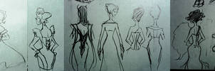 Avengers Gowns: Back Views