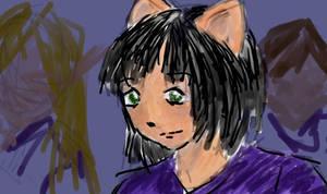 Kithara digital drawing by nekozikasilver1