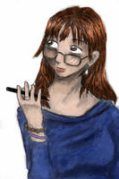 coloured self portrait by nekozikasilver1