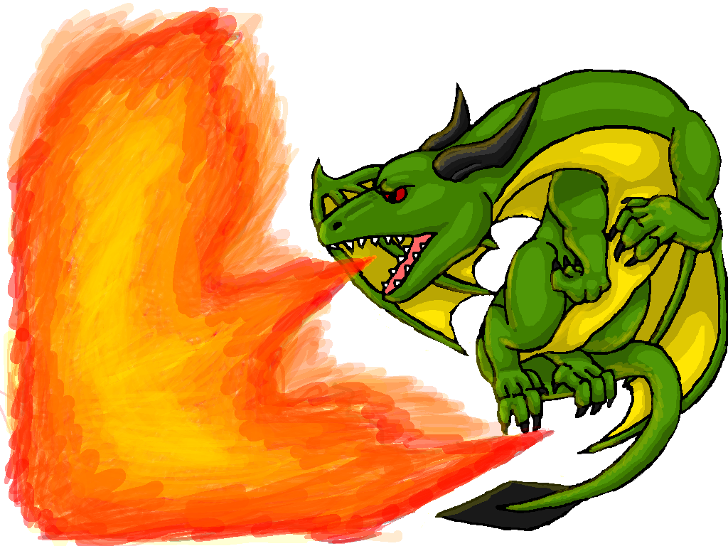 green dragon breathing fire by dragonfriendhaj on deviantart