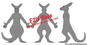 Anthro Kangaroo Reference Base [F2U] by NoelaniEternal