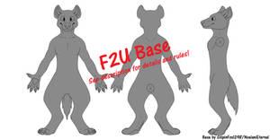 Anthro Hyena Reference Base [F2U]