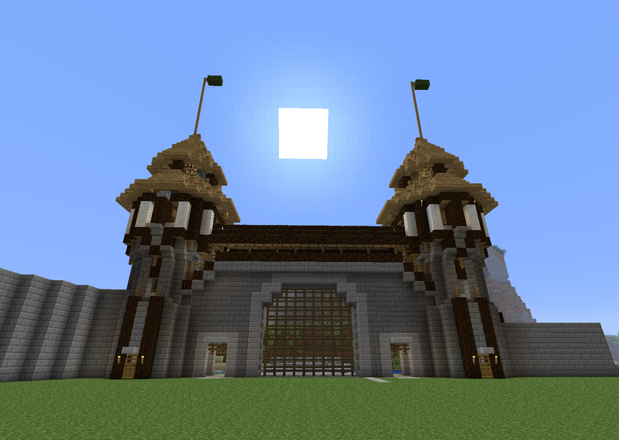 minecraft how to make a wall gate