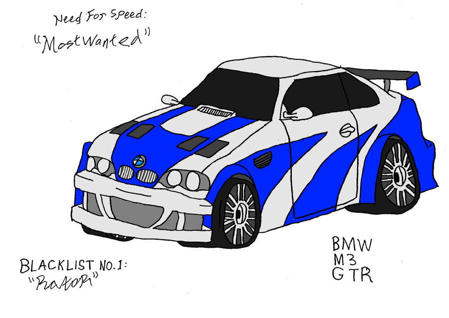 Huseen S Blog Bmw M3 Gtr Nfs Most Wanted By Saturn Hunter On