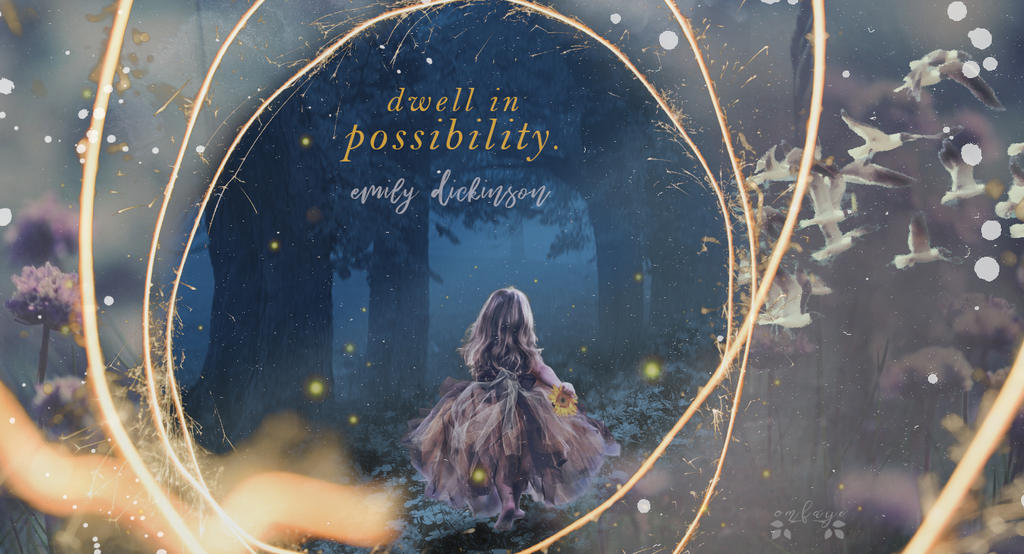 Dwell in possibility - Emily Dickinson - Wallpaper