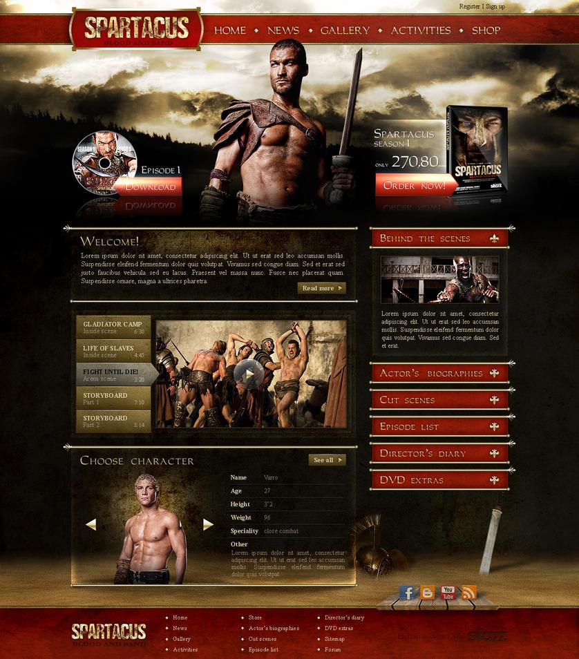 spartacus site by B3rko