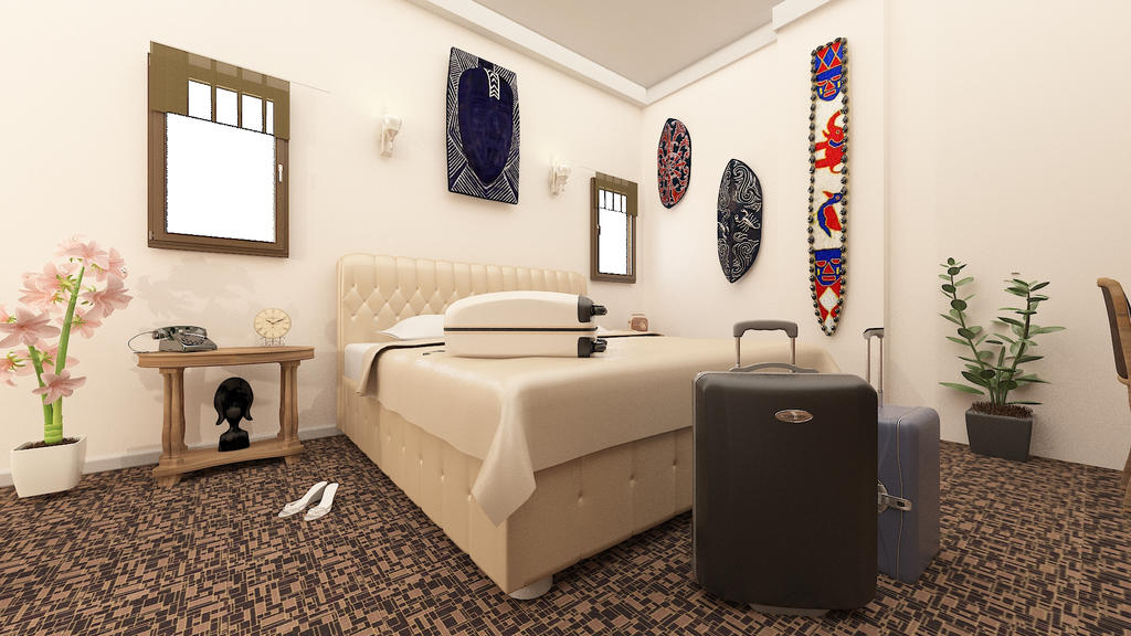 3dsmax Interior Desing Boutique Hotel By InteriorStudent