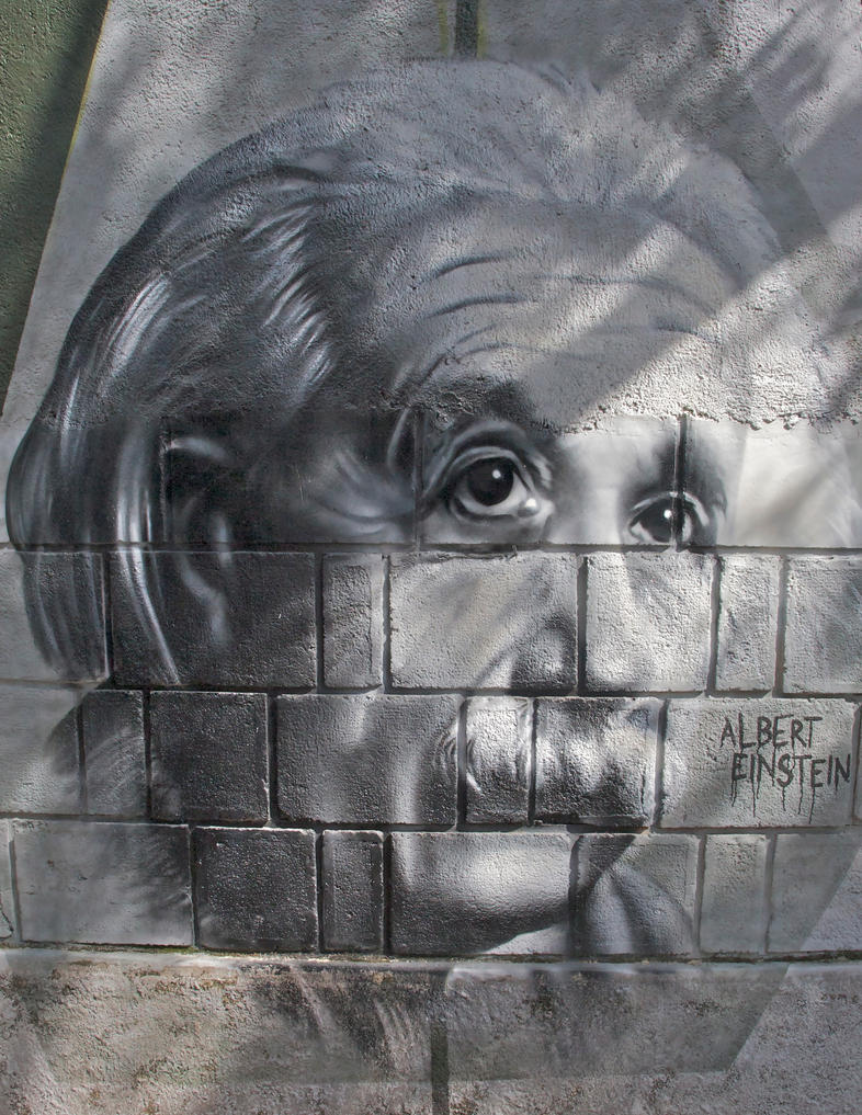 Graffiti of Einstein by Dany-Art