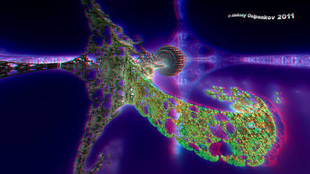 Spaceship from Nibiru Anaglyph by Osipenkov