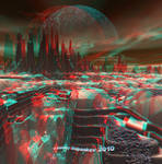 Hypothetical Planet Anaglyph