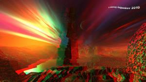 Ganymede Anaglyph 3D Stereoscopy