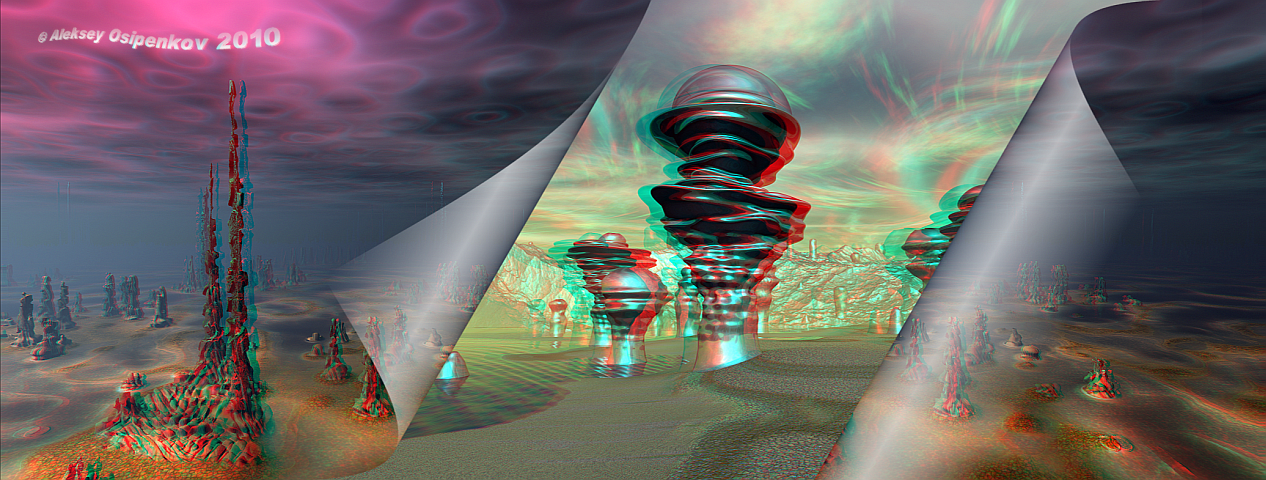 The Parallel Worlds Anaglyph 3D by Osipenkov