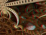 Gravitational astronomy Anaglyph 3D Stereoscopy by Osipenkov